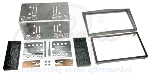 2-DIN monteringskit til diverse Opel modeller, Charcoal meta