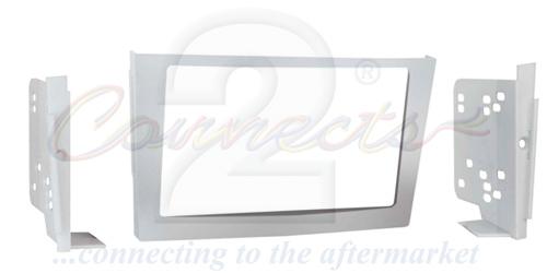 2-DIN monteringskit til Opel Astra 2004-2009, sølv.