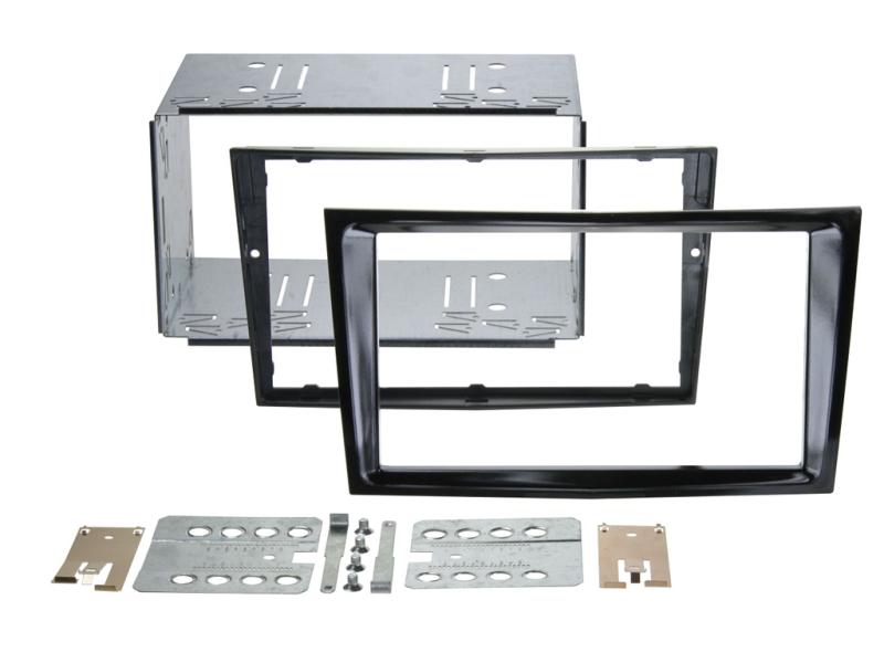 2-DIN monteringskit Perfect fit, Pianosort, til diverse Opel