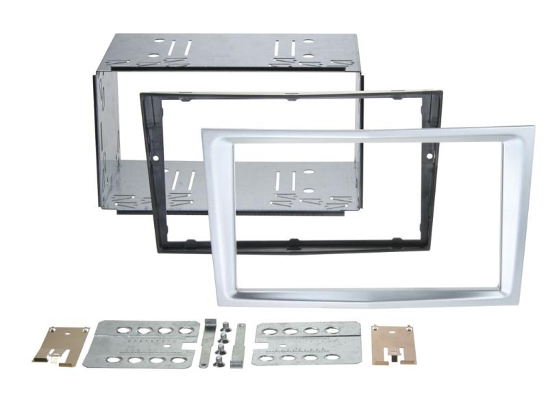 2-DIN monteringskit Perfect fit, Matt chrome, til diverse Op