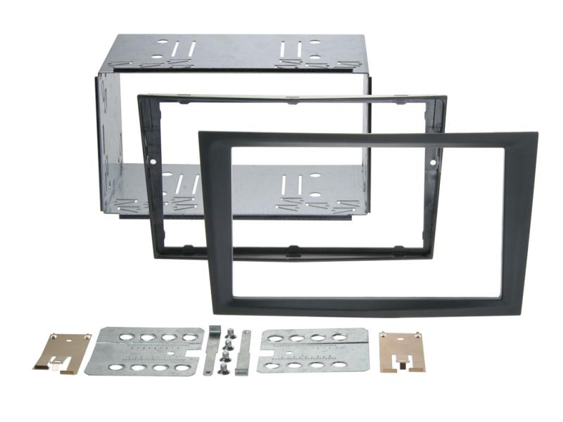 2-DIN monteringskit Perfect fit, Sort, til diverse Opel.