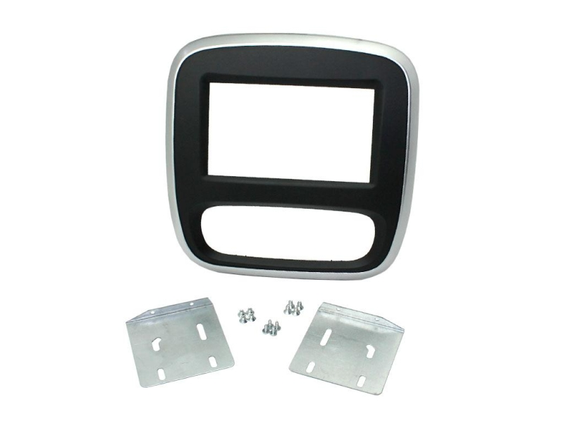 2-DIN kit til ny Renault Trafic 2015-, sort/sølv.