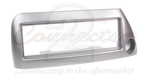 1-DIN ramme til Ford Ka 1996-2008, sølv, Med hul til cigartæ
