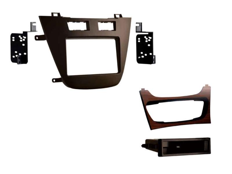 2-DIN ramme til Opel Insignia 2008-2013, brun.