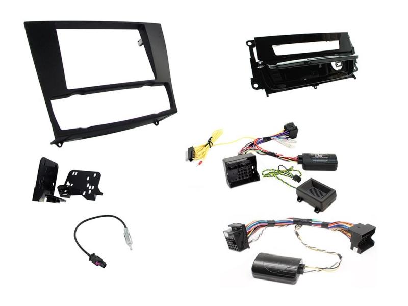 2-DIN kit Sort ramme og pianosort,  BMW 3 serie 2006-2014