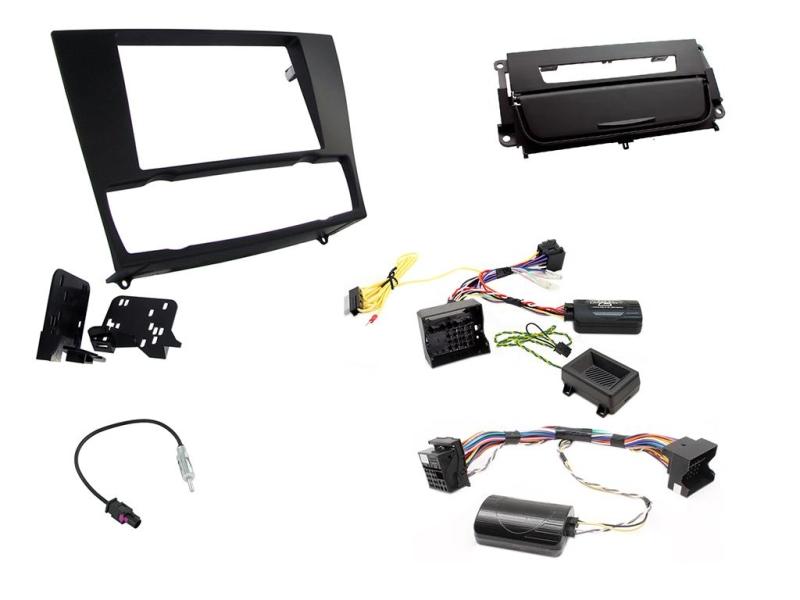 2-DIN kit Sort ramme og matsort, BMW 3 serie 2006-2014