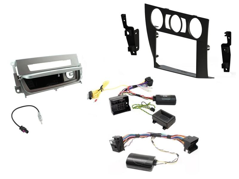 2-DIN kit Sort ramme og sølv, BMW 3 serie 2006-2014