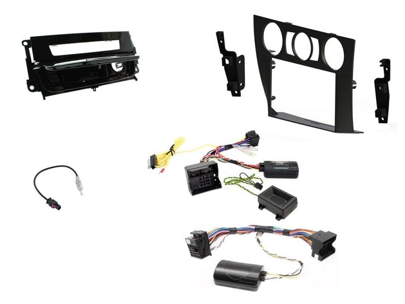 2-DIN kit Sort ramme og pianosort BMW 3 serie 2006>2014