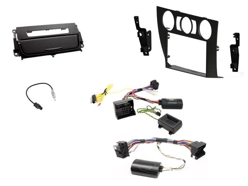 2-DIN kit Medfølger sort ramme og matsort BMW 3 serie 2006-2