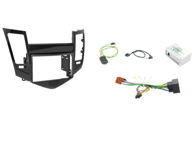 2-DIN kit Medfølger sort ramme, Chevrolet Cruze 2008>2012