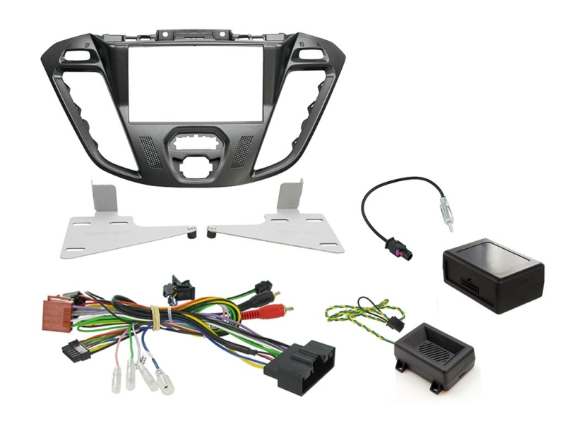2-DIN kit  Nebula pianosort ramme, Ford Transit Custom 2012>