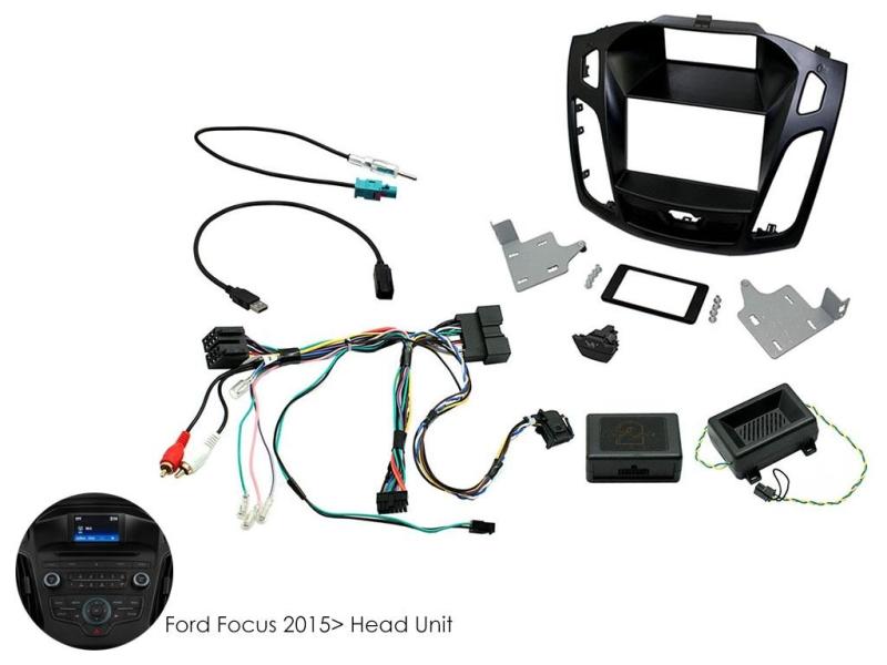 Komplet 2-DIN til ny Ford Focus 2015-  (faceliftet model).
