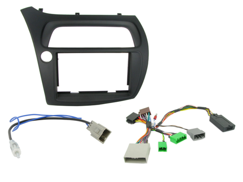 2-DIN kit Sort ramme, Honda Civic 2006 - 2011