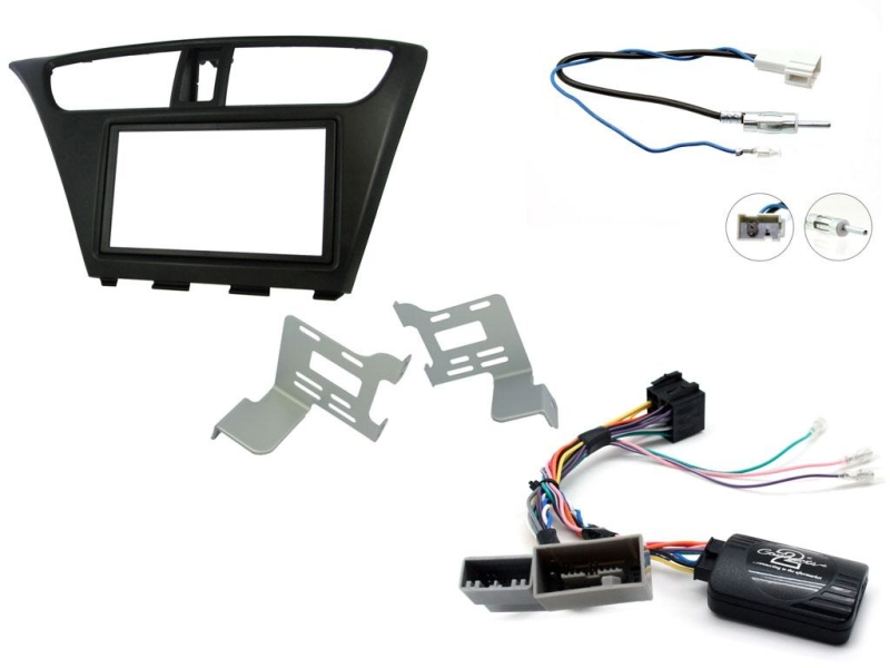 2-DIN kit Sort ramme, Honda Civic 2012>.