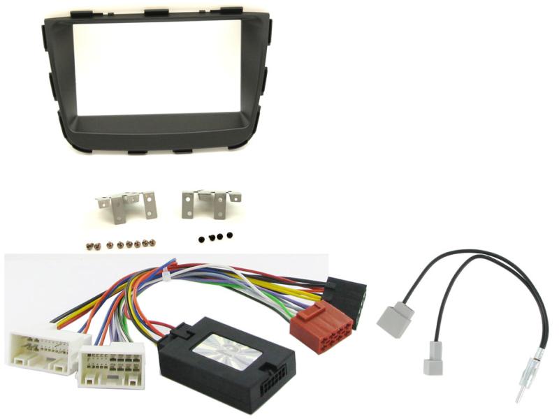 Komplet 2-DIN kit til Kia Sorento 2013- med standard lydsyst
