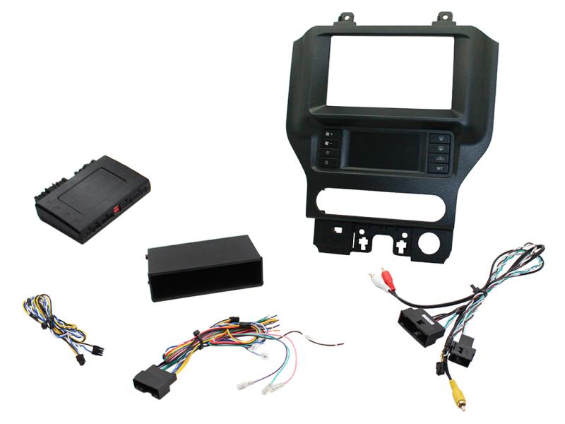 2-DIN pro kit til Ford Mustang 2015- med enkelt zone klima.