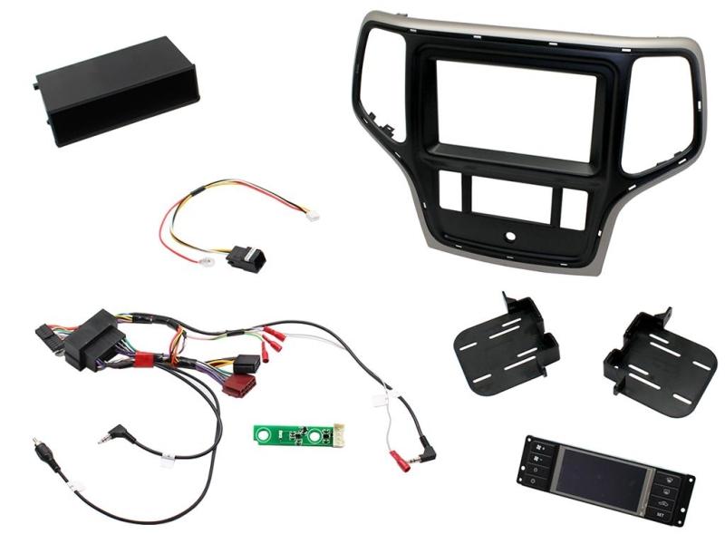 2-DIN pro kit til Jeep Grand Cherokee 2014- i brun udførsel