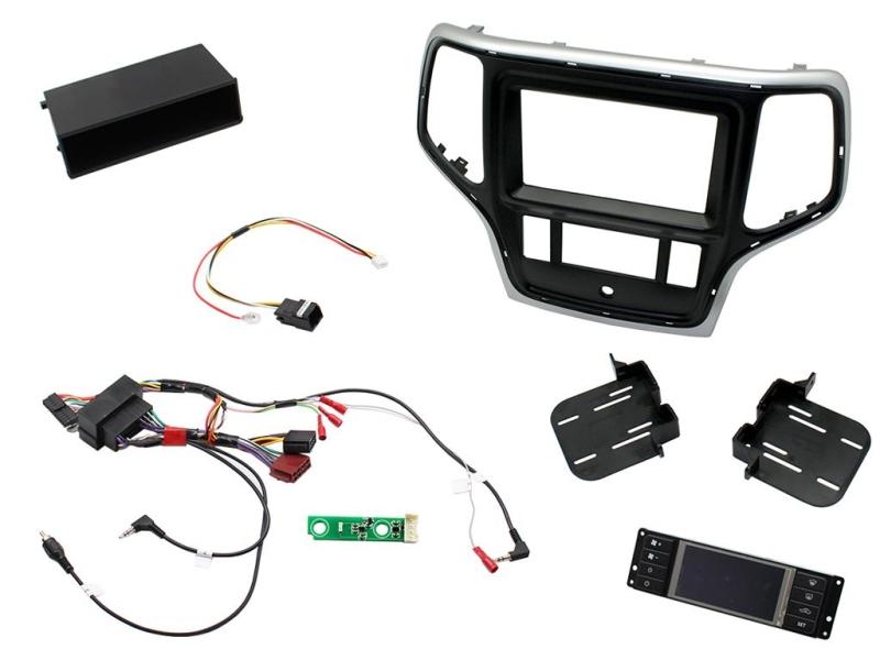 2-DIN pro kit til Jeep Grand Cherokee 2014- i sølv/sort udfø