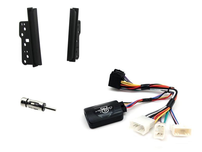 2-DIN kit Sort r.betjeningsinterface og antenneadapter.Toyot