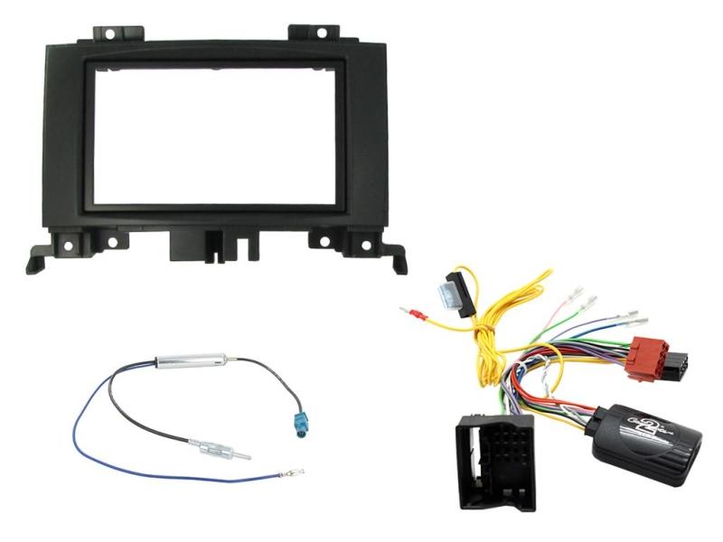 2-DIN kit Sort ramme, VW Crafter 2014>