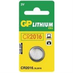 Batteri GP CR 2016 1 stk.