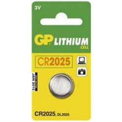 Batteri GP CR 2025 1 stk.