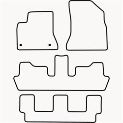 Skræddersyet Måttesæt til Citroën C4 Picasso 7 personers fra
