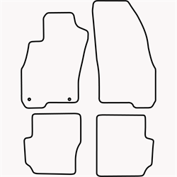 Skræddersyet Måttesæt til Fiat Punto Evo 3 dørs fra 2009 og