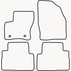 Skræddersyet Måttesæt til Ford Kuga 2008-2012