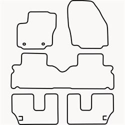 Skræddersyet Måttesæt til Ford S-max 7 personers fra 2006 og