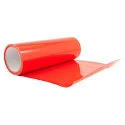 Rødt transparent lygtefolie